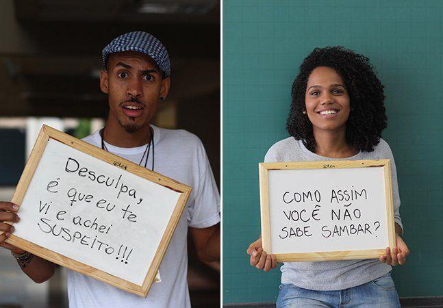 """Você já ouviu falar por aí que racismo não existe? Que hoje em dia negros e brancos têm as mesmas chances? Que cor da pele não significa nada? A estudante de antropologia da UnB Lorena Monique deu início a um projeto bastante provocador e intenso em que prova que o racismo não só ainda existe, como está presente inclusive no ambiente acadêmico de uma das maiores universidades brasileiras. O projeto, intitulado """"#ahbrancodaumtempo"""", traz fotografias de estudantes negros da UnB que escreveram…"""