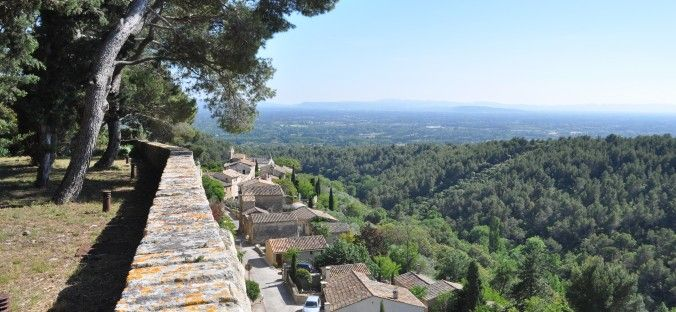 Vue from the Castle of Saumane #saumane #vaucluse #village #panoramicvue