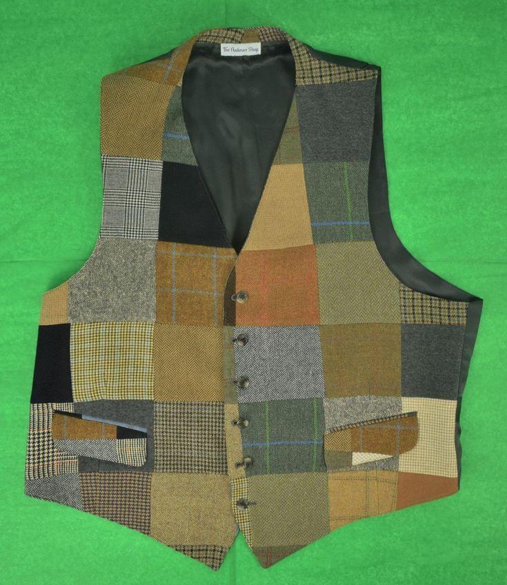 The Andover Shop Patch Cashmere Tweed Vest Sz: 46L
