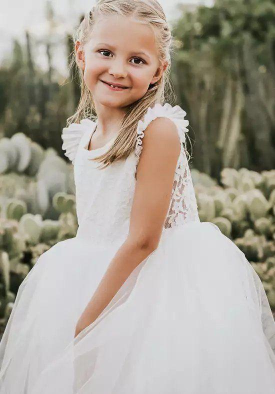 2e794d74a54 FATTIEPIE apple rustic Ivory Flower Girl Dress