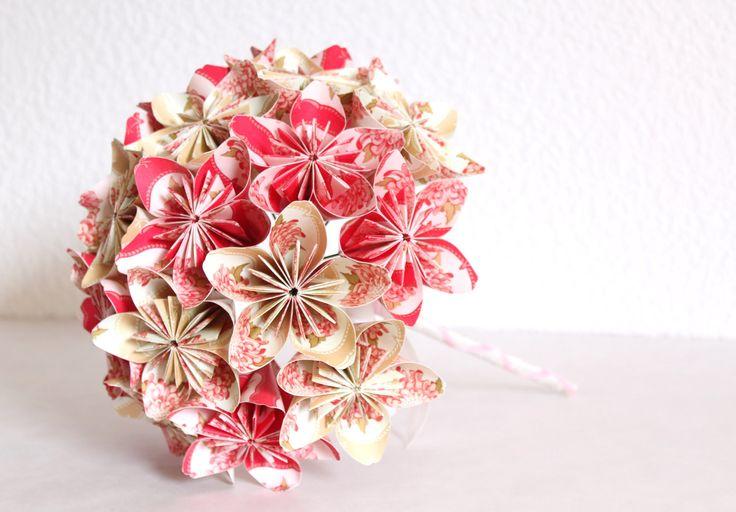 Bouquet carta origami