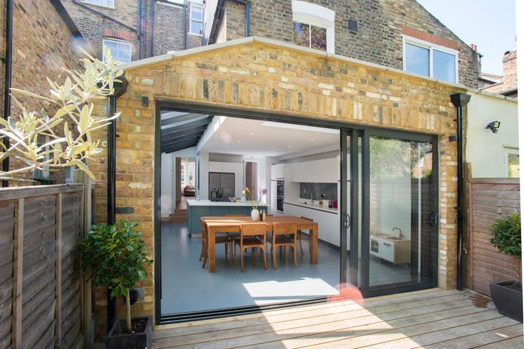 Side Return Extension and Loft Conversion on a Victorian Terraced House in Highbury, N5, Greater London, Sliding Glass Patio Doors, All-Glass Roof, Velux Roof Light, Flat Roof, Structural Glazed Roof, Wraparound Extension, Patio Area, Level Threshold, Kitchen Extension Ideas, Rear Extension