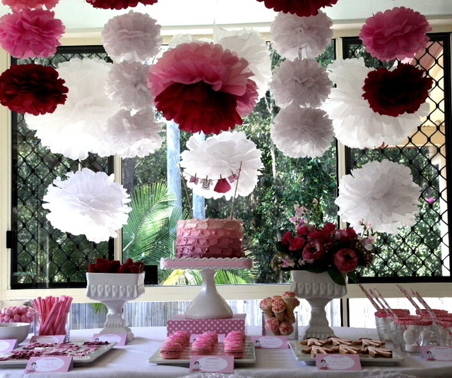 Gorgeous girly dessert table