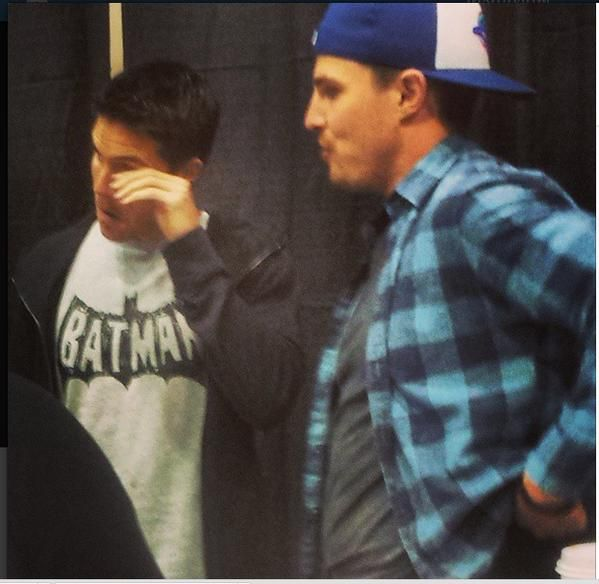 Stephen and Robbie Amell in #CalgaryExpo today #Arrow #Firestorm