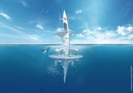 The SeaOrbiter - This unique undersea exploration project is led by the sea architect and Academician, Jacques Rougerie, surrounded by the world's leading ocean and space experts and supported by, among others, Ifremer, NASA and National Geographic.