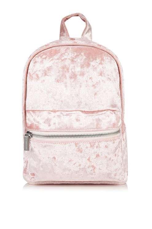 Pink Velvet Backpack by Skinny Dip