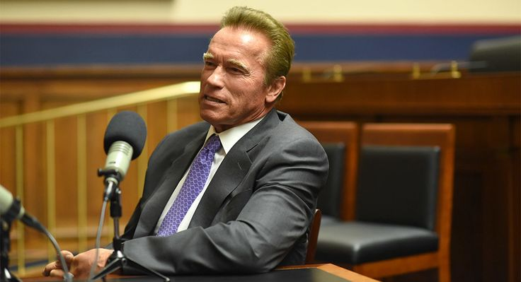 Former California Governor Arnold Schwarzenegger talks election reform with POLITICO's Isaac Dovere during an Off Message podcast in the Rayburn House office building on July 21, 2018. John Shinkle/POLITICO