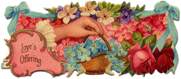 Victorian Die Cut - Love: