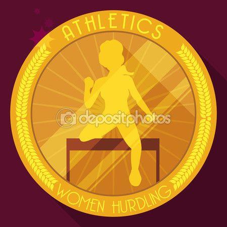Athletics Medal for Hurdling Women Event