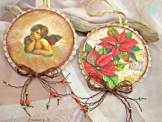 adornos arbol navidad decoupage vintage decoracin navidad decoracin rbol adorno ngel adornos