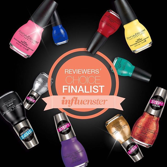 Vote #sinfulshine in best gel formula and #sinfulcolors for Best Nail Polish Brand @influenster Best in Beauty! influsenster.com/awards