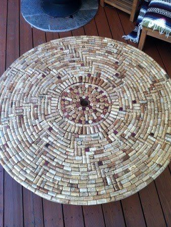 Manualidades con tapones de corcho cool art wine cork table wine cork crafts wine cork art - Manualidades con corchos ...