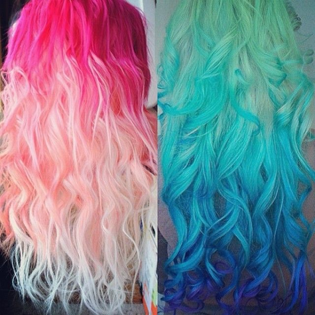 """Pastel and Bright Hair Colors Inspirations from Beauties and Celebrities colorful hair extensions Impressive hair color!!! Would you like to customize your colorful ombré hair extensions? Use Code """"instagram"""" to get $8/€8 off! blue ombre and red ombre colorful hair colors Join Our Instagram with @VP Fashion or #vpfashion."""