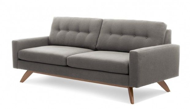 "I love the grey of this ""luna sofa"". It would look great with bright colored pillows or throws on it."