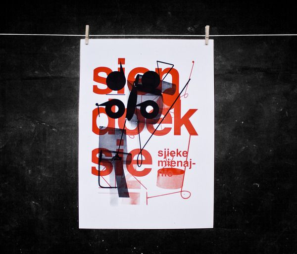 Posters by Daan Rietbergen, via Behance