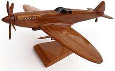Wooden Model Spitfire plane