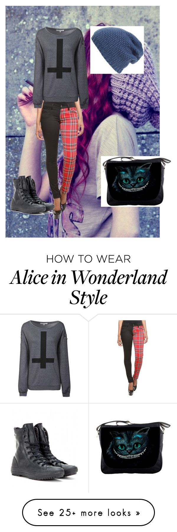 """Untitled #308"" by emogirlforlife on Polyvore featuring Glamorous, Phase 3 and Converse"