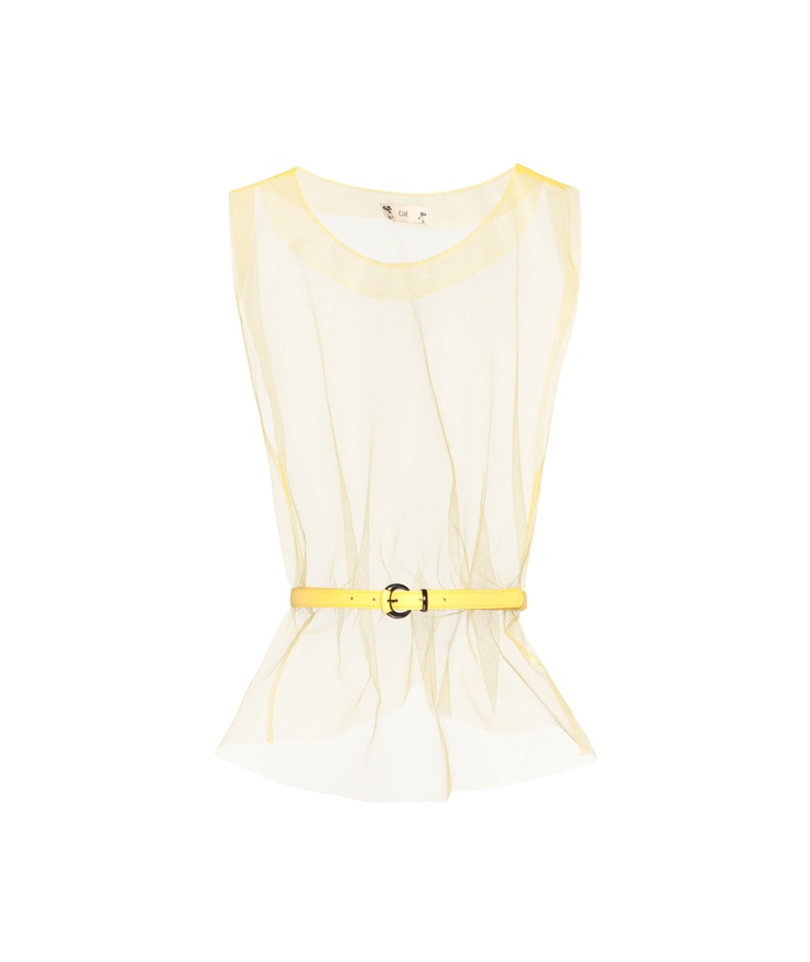 Cue  - Neon Tulle Top