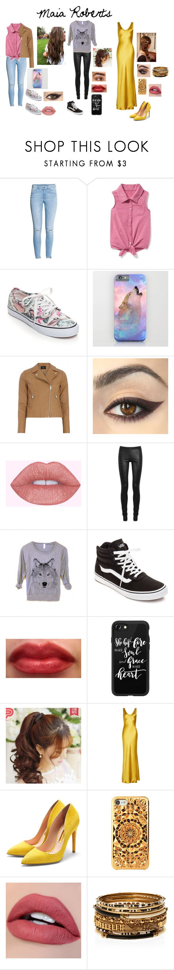 """""""Maia Roberts"""" by a-fangirl-mrc on Polyvore featuring H&M, Old Navy, Vans, Dorothy Perkins, Rick Owens, Casetify, Pin Show, Galvan, Rupert Sanderson and Felony Case"""