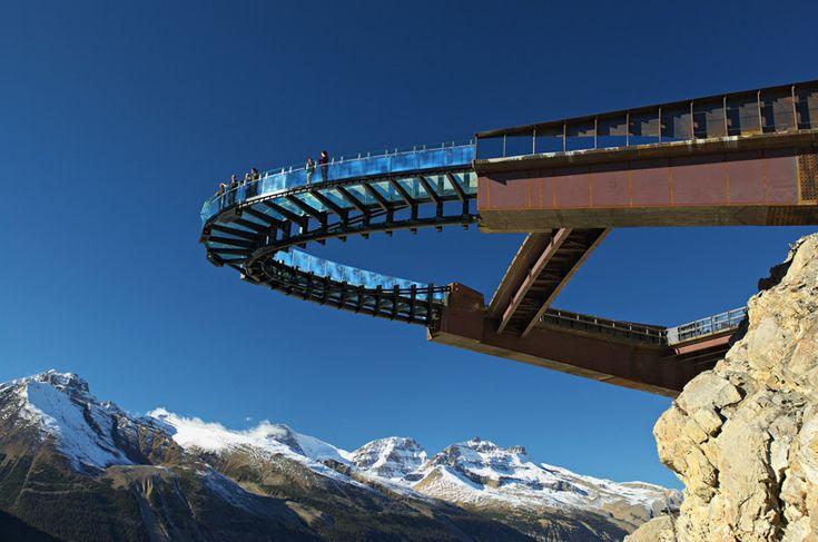 glacier skywalk extends over canadas jasper national park - designboom | architecture