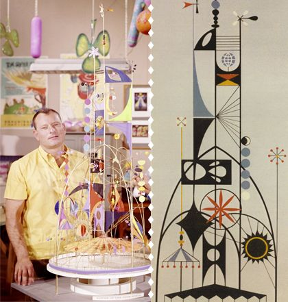 The Tower of the Four Winds designed by Walt Disney Imagineer Rolly Crump. LOVE THIS RETRO STYLE!!