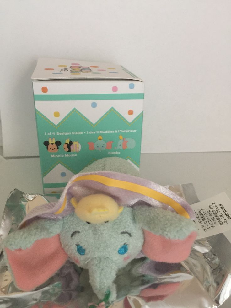 Disney Store Easter 2017 Marshmallow Scented Dumbo Mini Tsum Plush New with Box
