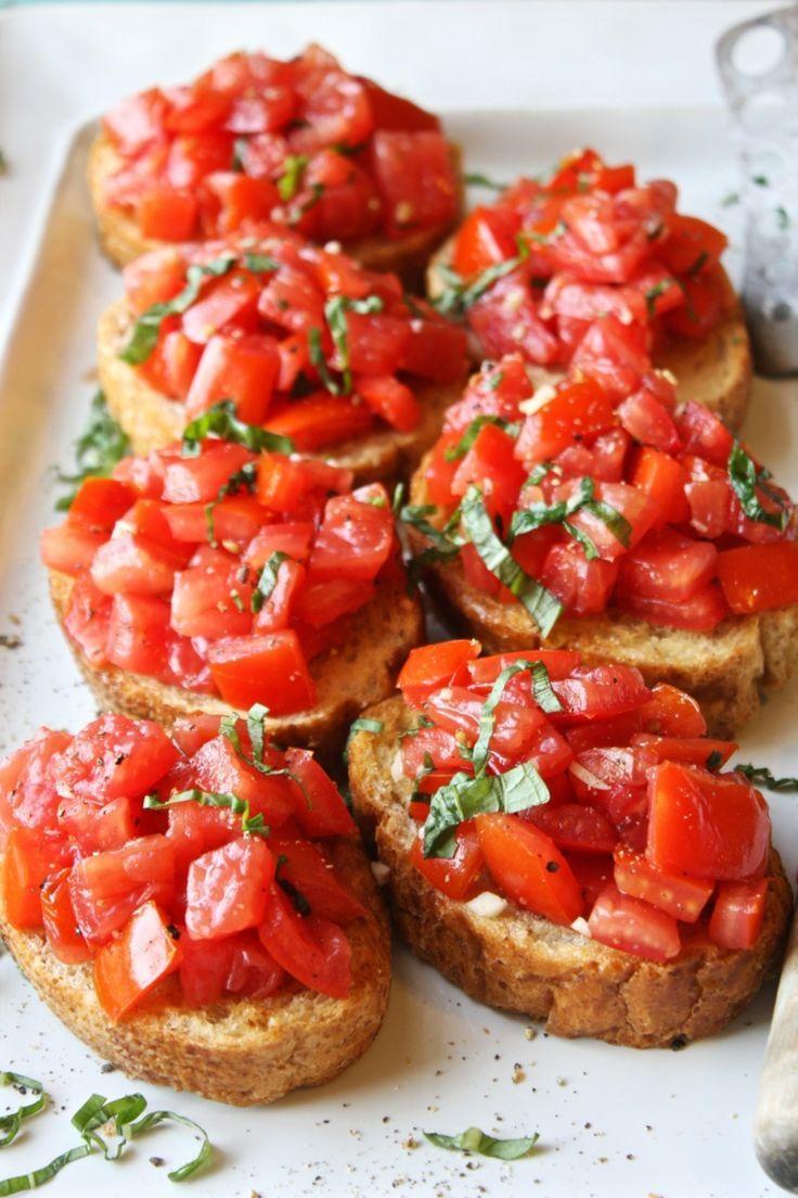 Das Tomaten Bruschetta selber machen können Sie auch mit einigen kleinen Verän… – Rezepte: Fingerfood & Vorspeisen