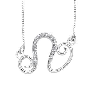 Sterling Silver Zodiac Collection Diamond Accent Necklace - Overstock™ Shopping - Top Rated Diamond Necklaces
