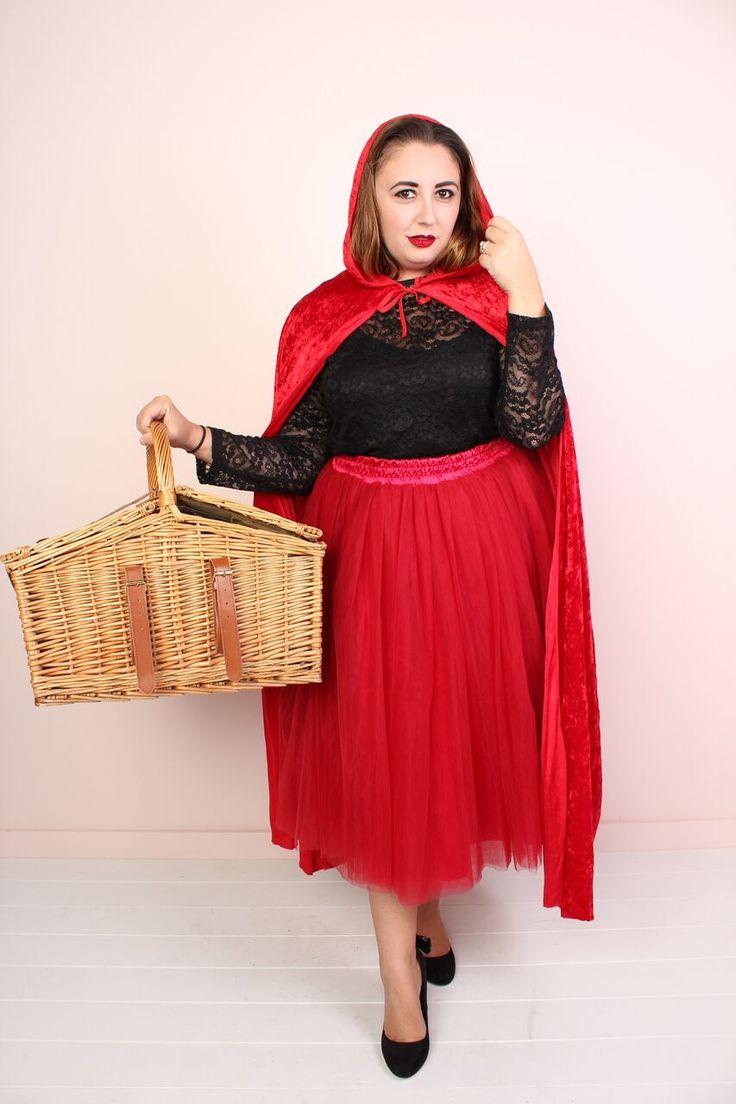 diy plus size halloween costume red riding hood