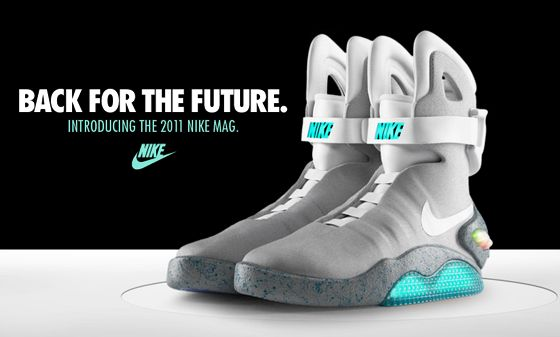 It;s taken me a while to see the beauty of these, but its there. Back to the Future Nike Mags