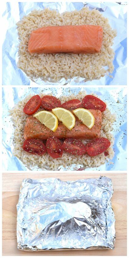 Easy Salmon and Rice Parcels Recipe - Eats Amazing