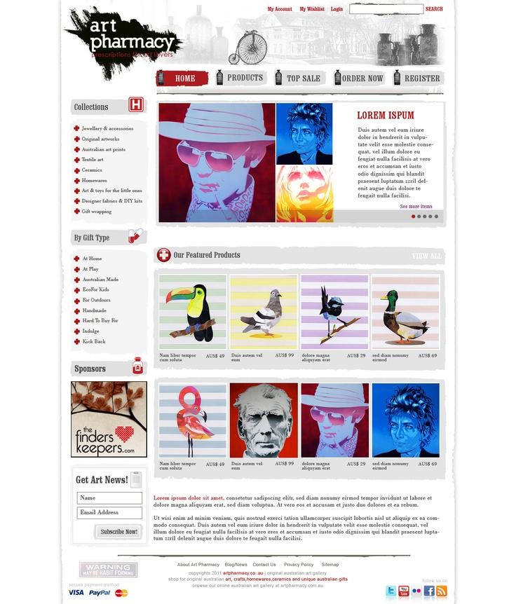 Art Pharmacy Website Design