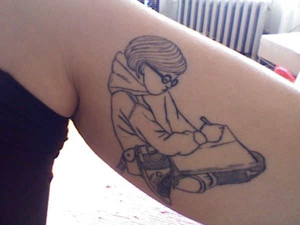 Tattoos inspired by children's books: Harriet the Spy