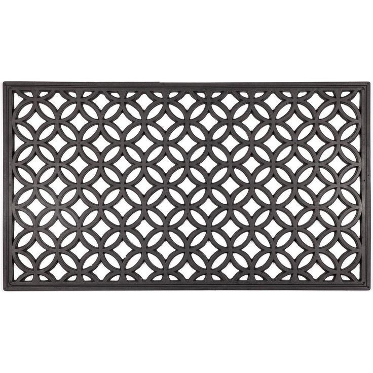 Entryways Circle Chains 16 in. x 28 in. Recycled Rubber