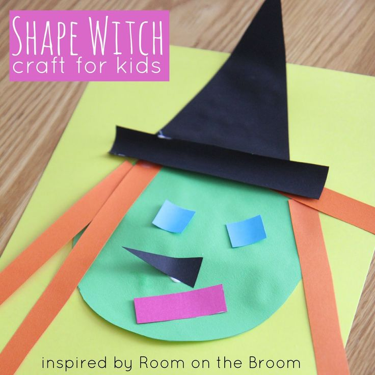 witch shape craft inspired by room on the broom halloween crafts for toddlerscrafts - Halloween Crafts For Preschoolers Easy