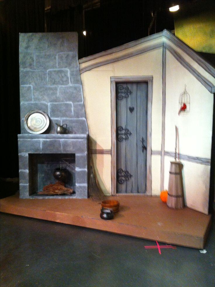 Cinderella kitchen-I added a pumpkin( foreshadowing)set design by Maggii Sarfaty