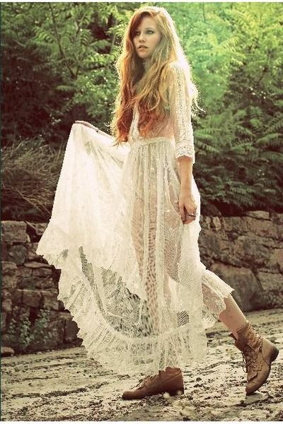 adorable lace bohemian dress.: Fashion, Style, Hippie, Vintage Lace, Vintage Dresses, Wedding, Boho, Lace Dresses, Bohemian