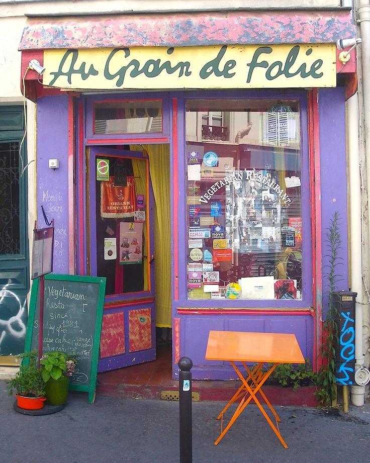 Au Grain de Folie, a vegetarian restaurant in the art district of Paris on way to the basilica at Montmartre - Paris!