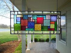 Vidrio Panel Multi colores y espejo biselado de la ventana