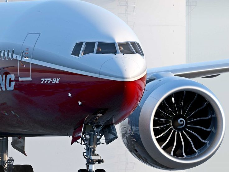 Boeing 777X. Not really a fan of the big nacelles.