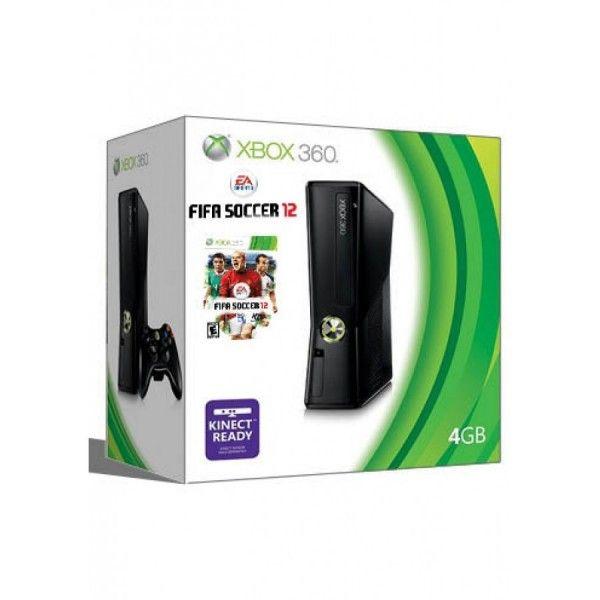 XBOX 360 SISTEMA SLIM 4GB FIFA 12 BUNDLE