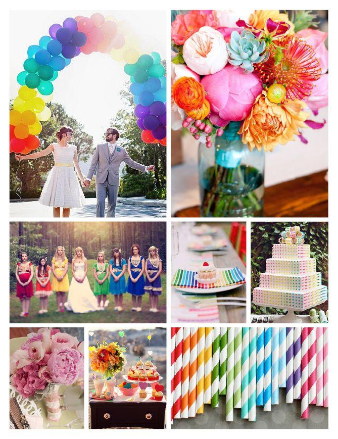 Non juvenile rainbow party inspiration