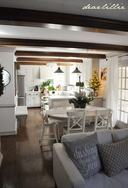 Dear Lillie  2013 Christmas House Tour. 25  best ideas about Kitchen Dining Living on Pinterest   Open