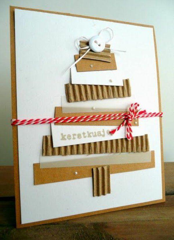 weihnachtsbasteleien mit papier weihnachtskarten