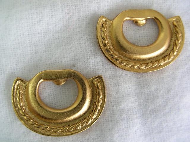 Aros oro - cultura Quimbaya - Colombia