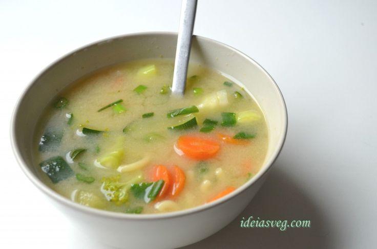 Sopa de legumes com misso #receita #vegana #vegetariana #vegan #vegetarianismo #veganismo