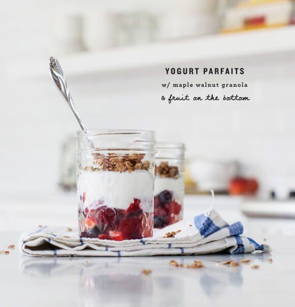 Maple Walnut Granola Parfaits