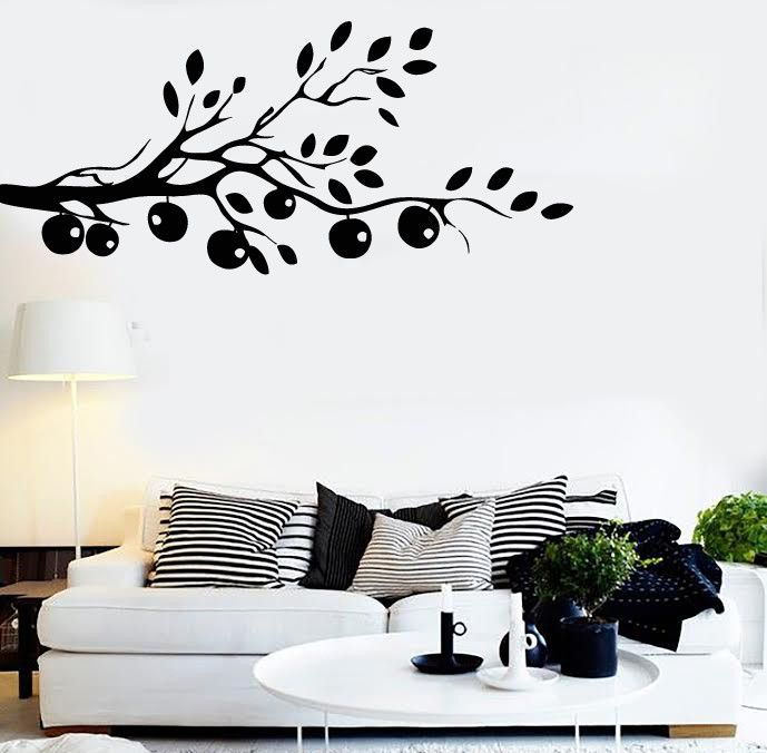 Wall Stickers Vinyl Decal Tree Branch Apple Decor For Bedroom (z2075)