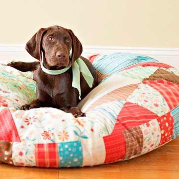 cómo hacer un colchón para perro con patchwork