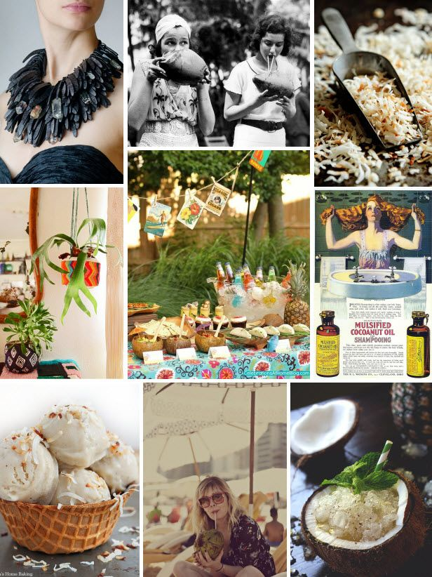 Mood Board Monday: Coconuts (http://blog.hgtv.com/design/2014/08/25/mood-board-monday-coconuts/?soc=pinterest): Blog Design, Coconut Recipes, Design Blog